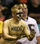 "picture of New Orleans Saints ""Who Dat"" fan"