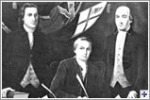 picture of the three signers of the Georgia signers of The Declaration of Independence