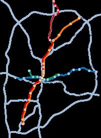 MARTA rail system map.