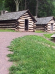 Log Huts Similar To Those Built By American Continental Soldiers
