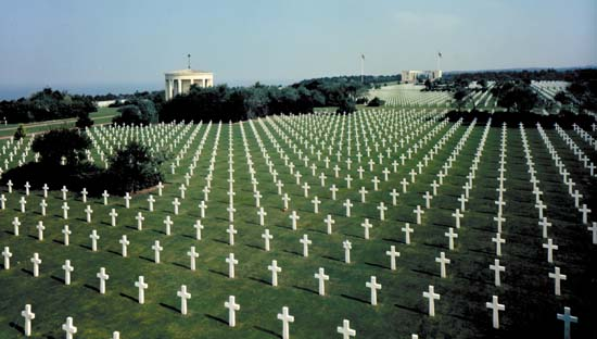 picture of US Memorial Graveyard in Normandy, France
