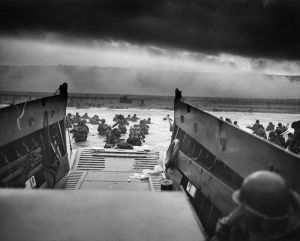 Picture from D-Day landing craft Omaha Beach