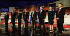 GOP candidates on debate stage